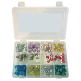 K Tool 00081 Mini Auto Fuse Assortment - 120 Piece Color Coded Fuses from 2 Amp to 30 Amp