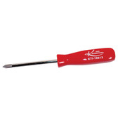 "K Tool 19813 Screwdriver, #1 Phillips Tip, 3"" Long Blade, with Red Plastic Handle"