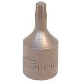 "K Tool 21827 Socket, 1/4"" Drive, T27 Internal Torx"
