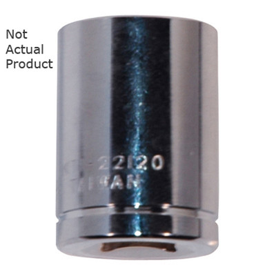 "K Tool 22118 Chrome Socket, 3/8"" Drive, 9/16"", 6 Point, Shallow"