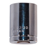 "K Tool 22120 Chrome Socket, 3/8"" Drive, 5/8"", 6 Point, Shallow"