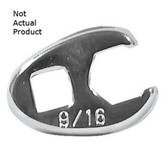"K Tool 22314 Crowfoot Wrench, 3/8"" Drive, 7/16"", Flare Nut Style"