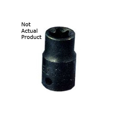"K Tool 22882 Socket, 3/8"" Drive, E12 External Torx"