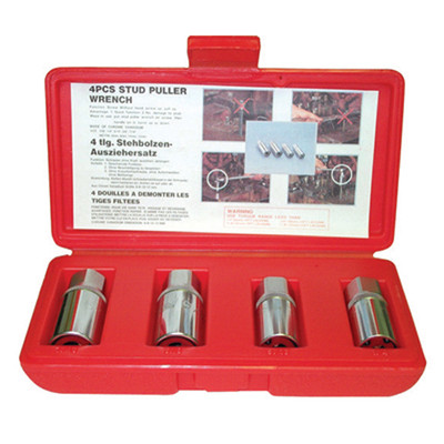 "K Tool 23800 Stud Remover Set, 4 Piece, 1/2"" Drive, 1/4"", 5/16"", 3/8"", 7/16"""