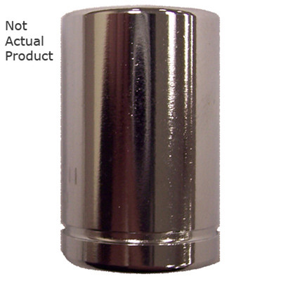 "K Tool 26109 Chrome Socket, 1/4"" Drive, 9mm, 6 Point, Shallow"