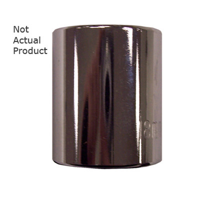 "K Tool 27506 Chrome Socket, 3/8"" Drive, 6mm, 12 Point, Shallow"