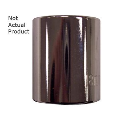 "K Tool 27521 Chrome Socket, 3/8"" Drive, 21mm, 12 Point, Shallow"
