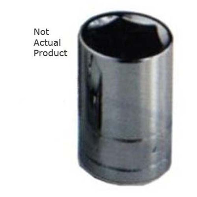 "K Tool 28112 Chrome Socket, 1/2"" Drive, 12mm, 6 Point, Shallow"