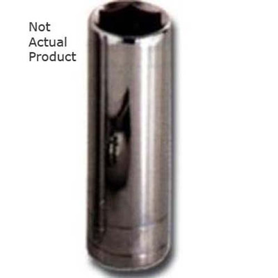 "K Tool 28215 Chrome Socket, 1/2"" Drive, 15mm, 6 Point, Deep"