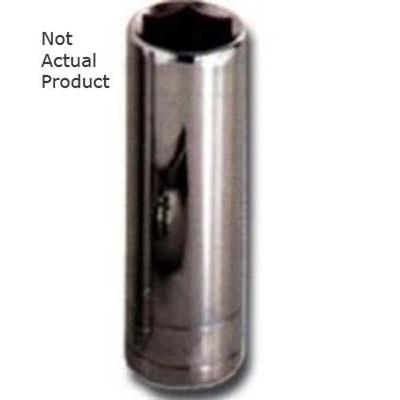 "K Tool 28218 Chrome Socket, 1/2"" Drive, 18mm, 6 Point, Deep"