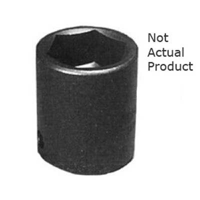 "K Tool 32116 Impact Socket, 3/8"" Drive, 1/2"", 6 Point, Shallow"