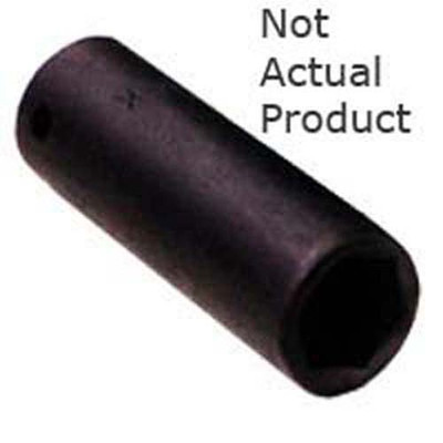 "K Tool 32214 Impact Socket, 3/8"" Drive, 7/16"", 6 Point, Deep"