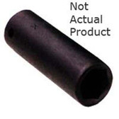 "K Tool 32228 Impact Socket, 3/8"" Drive, 7/8"", 6 Point, Deep"