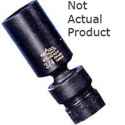 "K Tool 32416 Impact Socket, 3/8"" Drive, 1/2"", 6 Point, Flex, Deep"