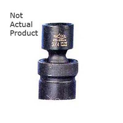 "K Tool 32524 Impact Socket, 3/8"" Drive, 3/4"", 6 Point, Flex, Shallow"