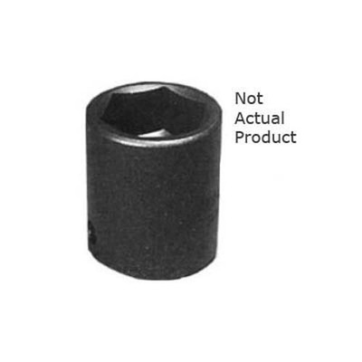 "K Tool 33136 Impact Socket, 1/2"" Drive, 1-1/8"", 6 Point, Shallow"