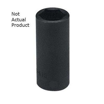 "K Tool 33244 Impact Socket, 1/2"" Drive, 1-3/8"", 6 Point, Deep"