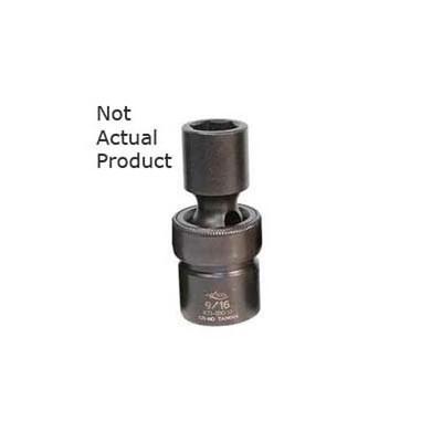 "K Tool 33518 Impact Socket, 1/2"" Drive, 9/16"", 6 Point, Flex, Shallow"