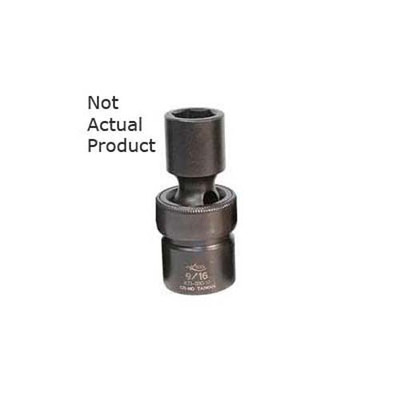 "K Tool 33522 Impact Socket, 1/2"" Drive, 11/16"", 6 Point, Flex, Shallow"