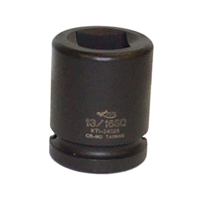 "K Tool 34026 Impact Budd Wheel Socket, 3/4"" Drive, 13/16"" Square, Shallow"
