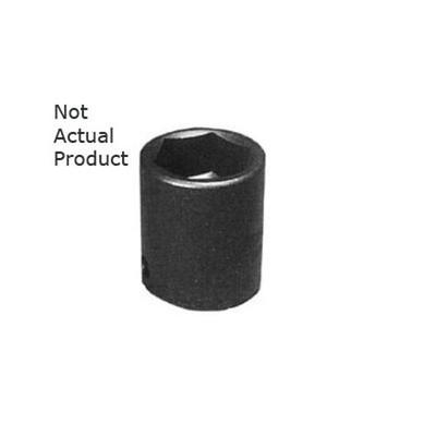 "K Tool 34136 Impact Socket, 3/4"" Drive, 1-1/8"", 6 Point, Shallow"