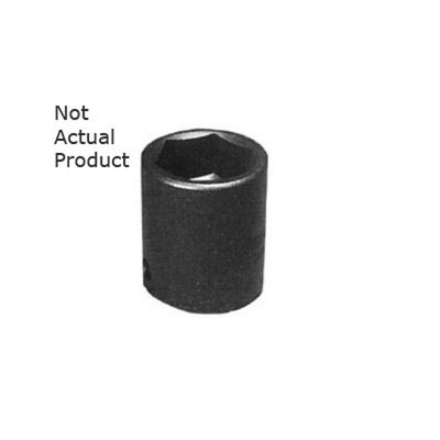 "K Tool 34144 Impact Socket, 3/4"" Drive, 1-3/8"", 6 Point, Shallow"
