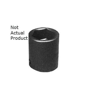 "K Tool 35138 Impact Socket, 1"" Drive, 1-3/16"", 6 Point, Shallow"