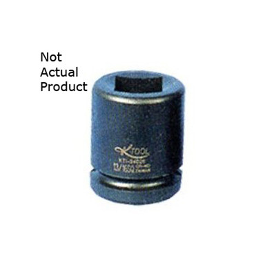 "K Tool 35233 Impact Budd Wheel Socket, 1"" Drive, 33mm, 6 Point, Deep"