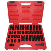 "K Tool 37042 Impact Socket Set, 3/8"" Drive, 42 Piece, 5/16"" to 3/4"""