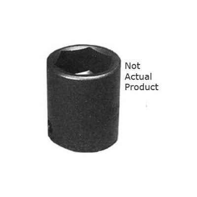 "K Tool 37119 Impact Socket, 3/8"" Drive, 19mm, 6 Point, Shallow"