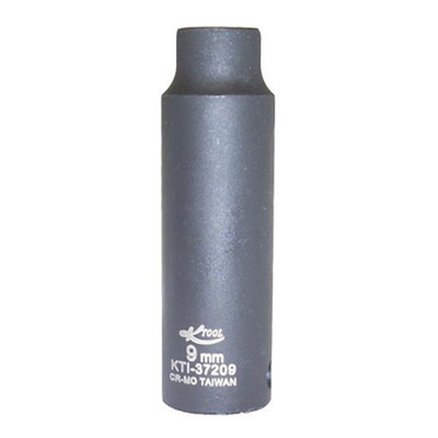 "K Tool 37209 Impact Socket, 3/8"" Drive, 9mm, 6 Point, Deep"