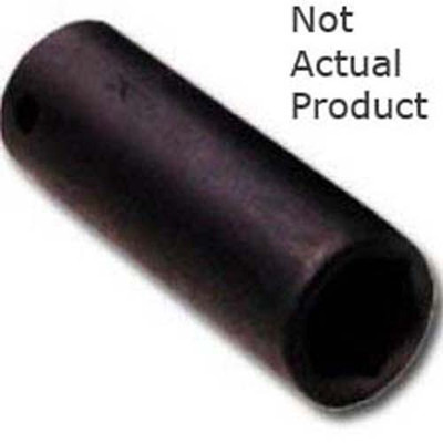 "K Tool 37219 Impact Socket, 3/8"" Drive, 19mm, 6 Point, Deep"