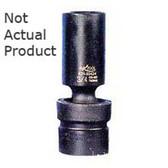 "K Tool 37510 Impact Socket, 3/8"" Drive, 10mm, 6 Point, Flex, Shallow"