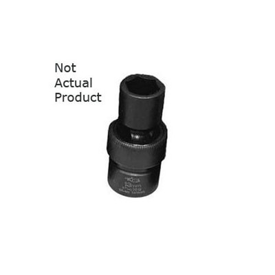 "K Tool 38515 Impact Socket, 1/2"" Drive, 15mm, 6 Point, Flex, Shallow"