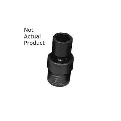 "K Tool 38519 Impact Socket, 1/2"" Drive, 19mm, 6 Point, Flex, Shallow"