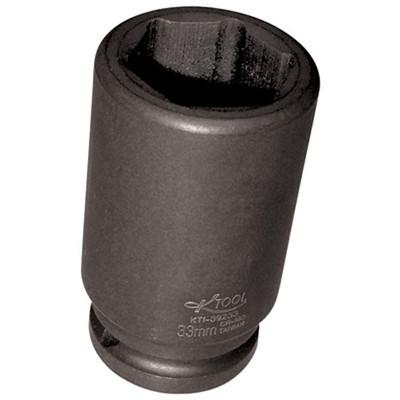 "K Tool 39233 Impact Budd Wheel Socket, 3/4"" Drive, 33mm, 6 Point, Deep"