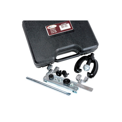 "K Tool 70080 Double Flaring Tool Set, Heavy Duty, Includes 3/16"" to 1/2"" Adapters, in Molded Case, Made in U.S.A."