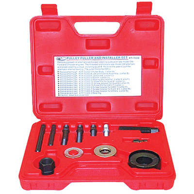 K Tool 70300 Pulley Puller and Installer Set, for V Shaped Pulleys and Serpentine Belt Pulleys