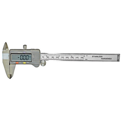 "K Tool 70816 Digital Caliper, 0 to 6"", 0 to 150mm, Stainless Steel, Shockproof, Accuracy to .001 Inches"
