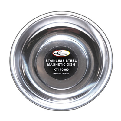 """K Tool 70999 Magnetic Parts Tray, 5-3/4"""" Round Dish, Stainless Steel"""