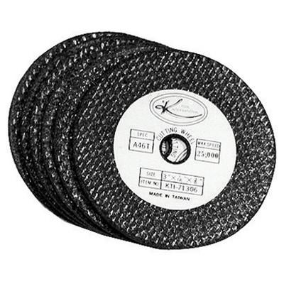 "K Tool 71300 Abrasive Cut Off Discs, 3"" Diameter, 3/8"" Arbor, 1/16"" Thick, Pack of 50"
