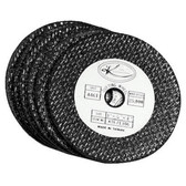 "K Tool 71306 Abrasive Cut Off Discs, 3"" Diameter, 3/8"" Arbor, 1/16"" Thick, Carded Pack of 6"