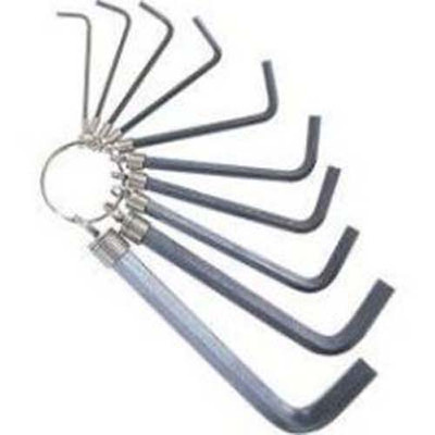 K Tool 71480 Hex Key Wrench Set, 1.5mm to 10mm, on Key Ring