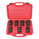 "K Tool 71920 Wheel Bearing Locknut Socket Set, 7 Piece, 1/2"" Drive, Includes Hex and Rounded Hex, in Case"