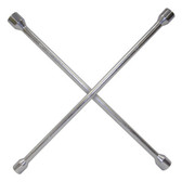 "K Tool 71940 Lug Nut Wrench, Four Way, 11/16"", 3/4"", 13/16"", 7/8"", Drop Forged and Heat Treated for Strength"