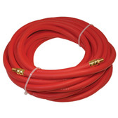 "K Tool 72025 Rubber Air Hose, High Quality, 25' x 3/8"" I.D., 1/4"" NPT Male Fittings, 300 PSI, Made in U.S.A."