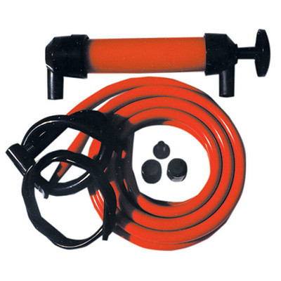 K Tool 72250 Deluxe Siphon Transfer Pump, Hand Operated, for Most Liquids, with Two Hoses