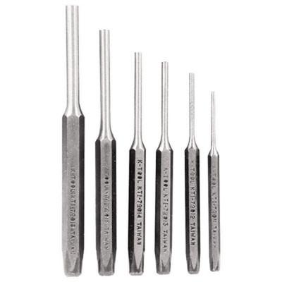 """K Tool 72900 Pin Punch Set 6 Piece - 3/32"""", 1/8"""", 5/32"""", 3/16"""", 1/4"""", 5/16"""""""