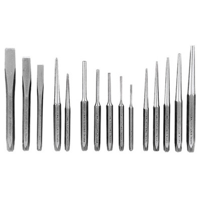 K Tool 72901 Punch & Chisel Set 15 Piece - In Plastic Tray