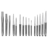 K Tool 72901K Punch & Chisel Set 15 Piece - In Kit Bag